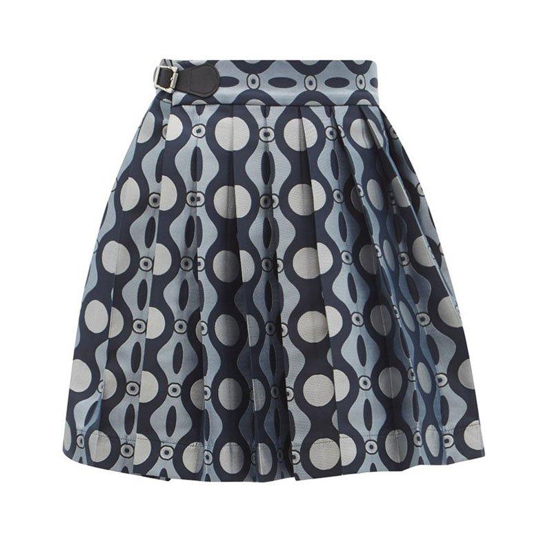 CHARLES JEFFREY LOVERBOY Mini-jupe plissée en jacquard chenille