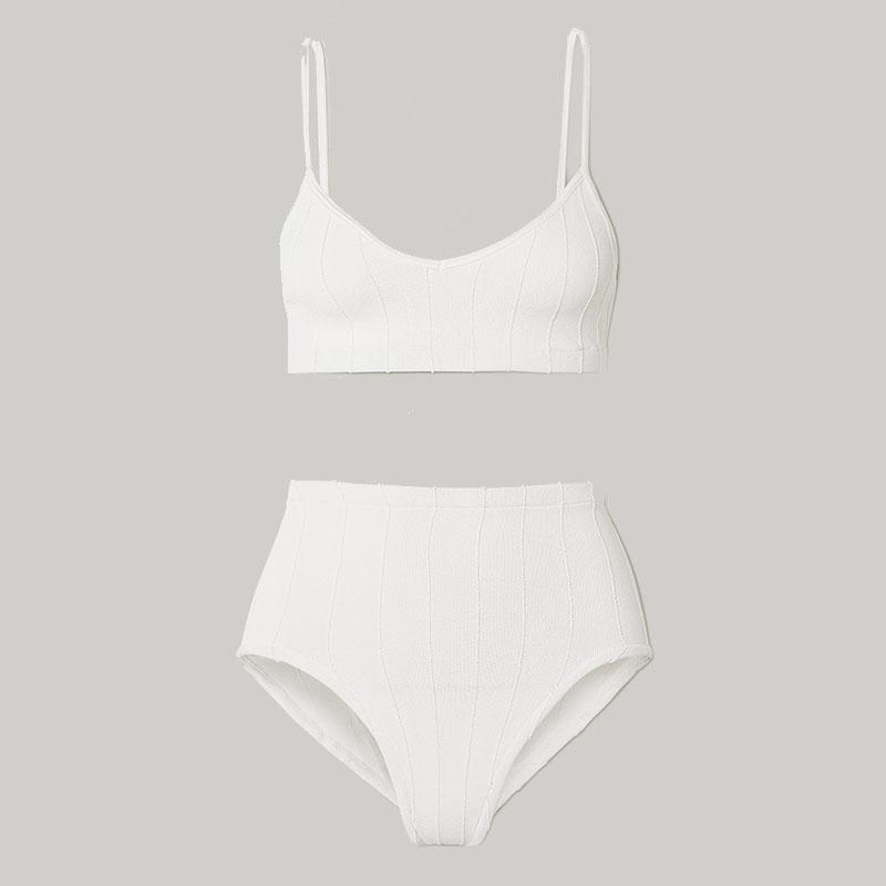 Bikini côtelé HUNZA G + NET SUSTAIN Duo Betty Nile