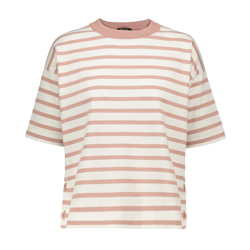 LORO PIANA Milos striped cotton T-shirt