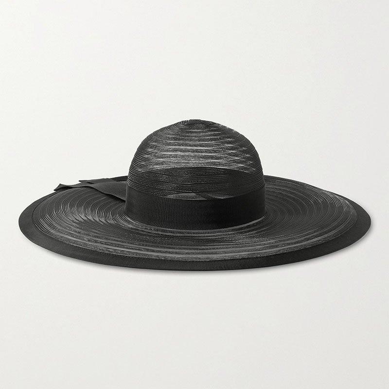 EUGENIA KIM Bunny grosgrain-trimmed tulle hat
