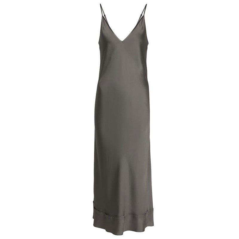 LEE MATHEWS Stella silk satin slip dress