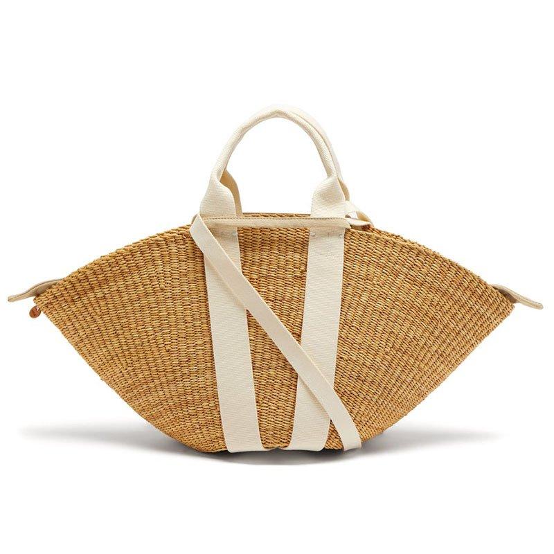 MUUÑ Sophie straw tote bag