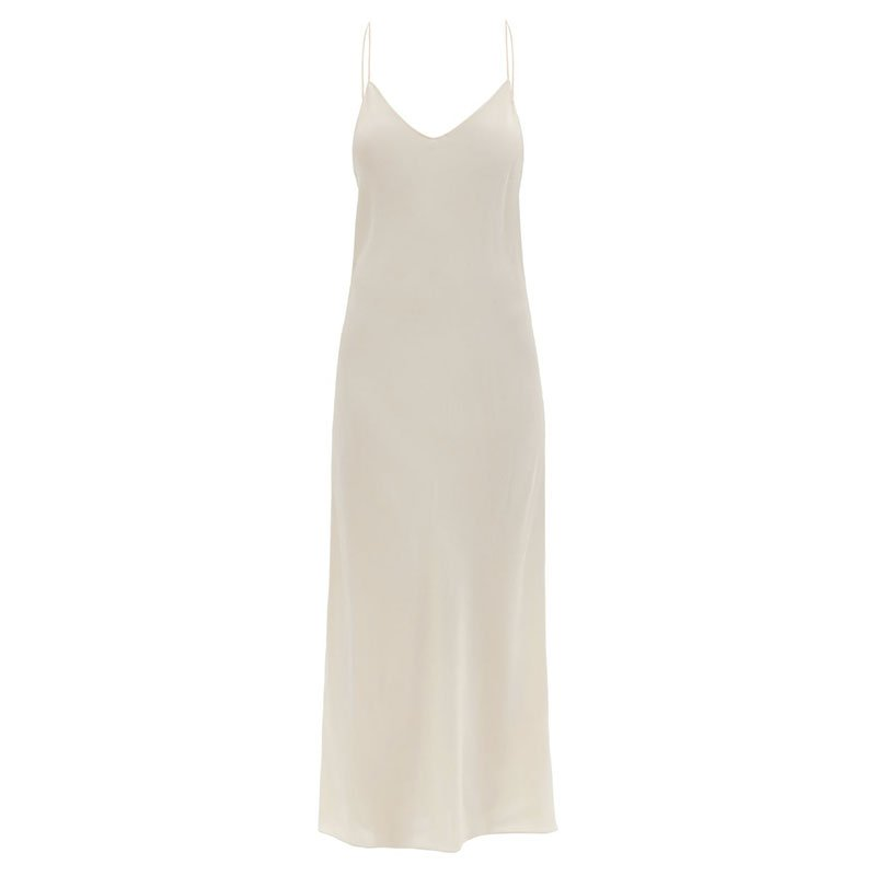 RAEY Thin-strap silk crepe-de-Chine slip dress
