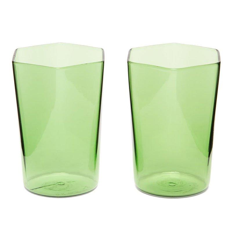 R+D.LAB Set of two Nini hexagon glass tumblers