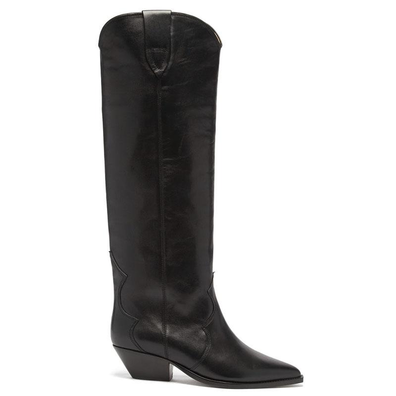 ISABEL MARANT Denvee leather knee-high boots