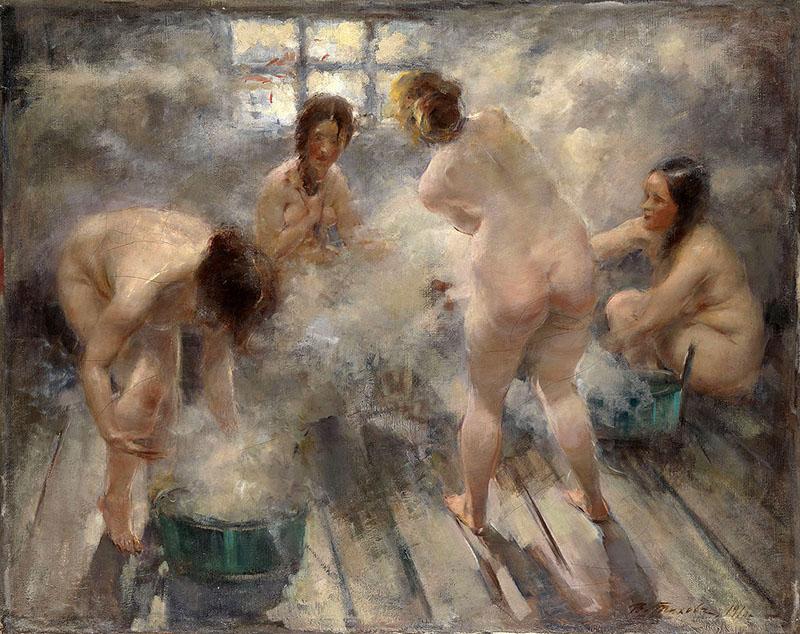 "Виталий Тихов ""В русской бане"" (1916)"