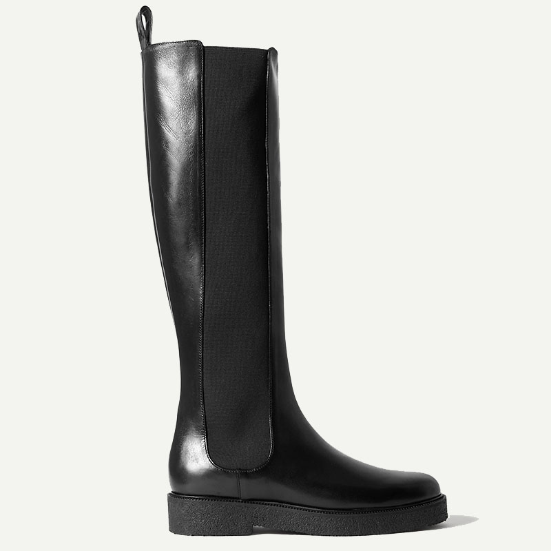 STAUD Palamino leather Chelsea knee boots
