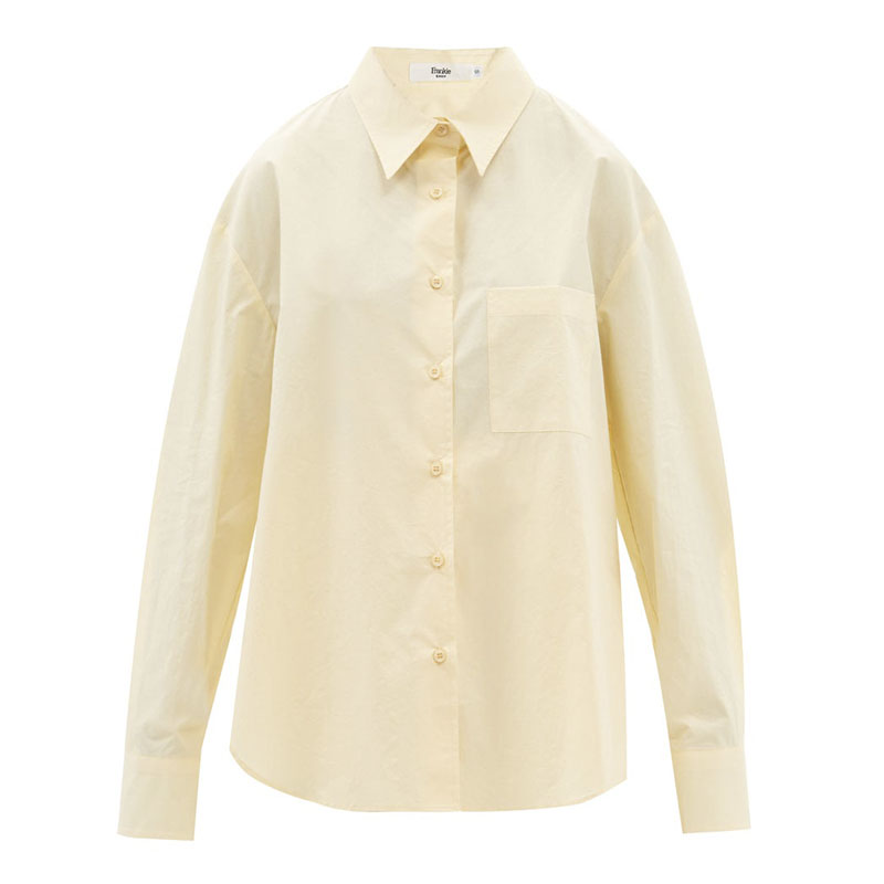 THE FRANKIE SHOP Lui organic cotton-poplin shirt